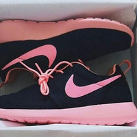 NIKE Women Men Running Sport Casual Shoes Sneakers Black Pink