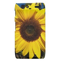 Sunny Sunflower Droid RAZR Case from Zazzle.com