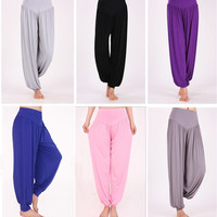 Bella Dreamin Women Comfy Harem Loose Long Pants Belly Dance Casual  Wide Trousers Size M-3XL = 1933358340