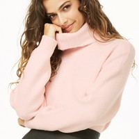 Semi-Cropped Turtleneck Sweater