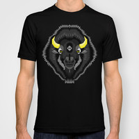 Geometric Bison T-shirt by chobopop