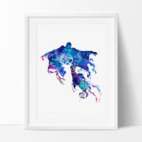Harry Potter Dementor, Art Poster Print, Harry Potter Art, Kids Gift, Watercolor Painting, Wall Decor, Home Decor, Watercolor Art (204)