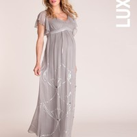 Embellished Butterfly Sleeved Gown