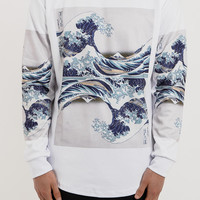 SW069 Great Wave Sweater - White