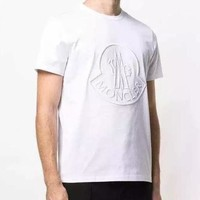 Moncler Fashion Casual Embroidery Short Sleeve T-Shirt Top