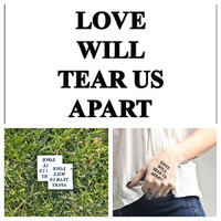 Joy Division  temporary tattoo Set of 2 by Tattify on Etsy