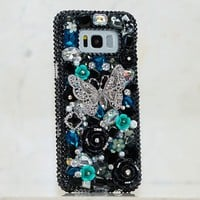 BLACK AND TURQUOISE BUTTERFLY Design (Style 833)