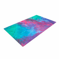 """NL Designs """"Bold Choice"""" Teal Painting Woven Area Rug"""