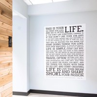 Holstee Manifesto Decal