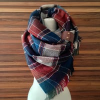 Tartan Blanket Scarf Plaid Scarf Oversized Scarf Gift For Her Pashmina Scarf Spring Fall Winter Scarf Shawl Gift Ideas For Her