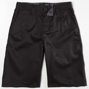 Blue Crown Boys Chino Shorts Black  In Sizes