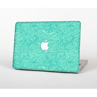 The Teal Leaf Laced Pattern Skin for the Apple MacBook Pro 13""