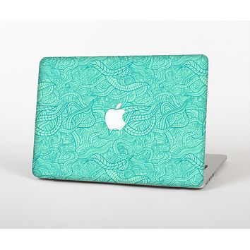 "The Teal Leaf Laced Pattern Skin for the Apple MacBook Pro 13""  (A1278)"