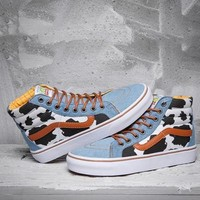 Vans x Toy Story Dairy Cow Print High-Top Sneakers Sport Shoes