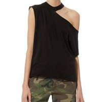 Axel Black Cutout Tee