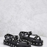 Studded Faux Leather Flatforms