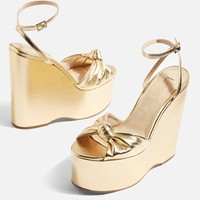 Knot Two Part Wedges   Topshop