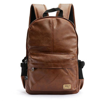 Vintage Leather Unique Backpack Travel fashion bag Daypack Laptop