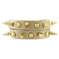 Spike Studded Wrap Bracelet