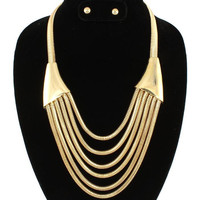 Gold Chain Necklace & Earrings SET