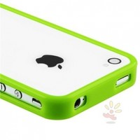 Everydaysource For Apple iPhone 4 and 4S Bumper TPU Case , Green Shinny