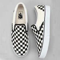 Vans casual checkerboard pattern canvas flat shoes sneakers Shoes