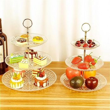 Three layer cake stand Decorative Tray for Party Weddings