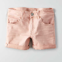AEO Twill X Midi Short, Light Pink