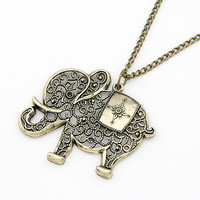 Fashion cute elephant Metal Necklace & Pendant
