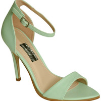 Maya Barely There Strappy High Heel Sandals in Mint Green