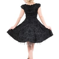"""Women's """"Barb Wire"""" Dress by Hearts & Roses (Black)"""
