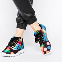 adidas Originals ZX Flux Multi Colored Bubble Dot Sneakers