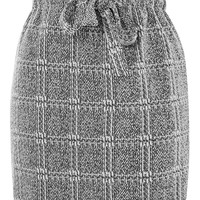 Textured Check Paperbag Mini Skirt | Topshop