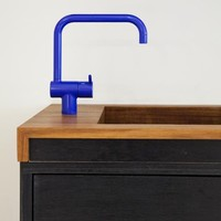 Design Sleuth: Electric Blue Vola Faucet: Remodelista