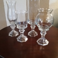 4 glass vases