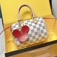LV Louis Vuitton Fashion Women Shopping Bag Leather Mini Handbag Tote Shoulder Bag Crossbody Satchel