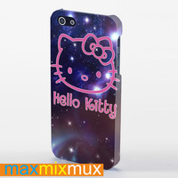 Hello Kitty On Galaxy iPhone 4/4S, 5/5S, 5C Series Full Wrap Case