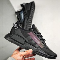 Adidas NMD_R1 V2 Boost Fashion New Sports Running Shoes Men Black
