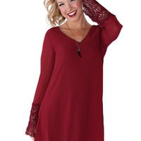 Swept Away Dress  - Burgundy