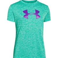 Under Armour Girls' Big Logo Twist Tech Graphic T-Shirt | DICK'S Sporting Goods