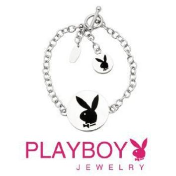 Licensed Playboy Bunny Double Charm Bracelet Sexy Cute Fashion Authentic Jewelry