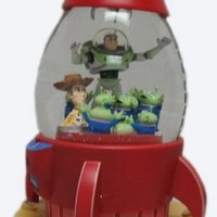 Toy Story The Claw Snowglobe with Buzz Lightyear, Woody and Aliens