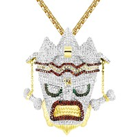 Mens Uka Uka Mask Bandicoot Icy Hip Hop Gold Tone Pendant