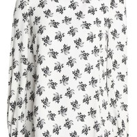 Floral-print crepe turtleneck blouse | DOLCE & GABBANA | Sale up to 70% off | THE OUTNET