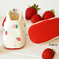 """Organic """"Strawberry"""" Shoes - NB to 4T"""