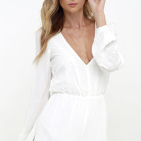 Postcards from Cabo Ivory Embroidered Romper