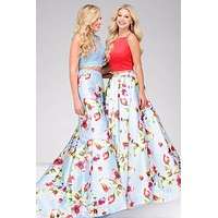 Red and Blue Two piece Jovani  Dress 49990