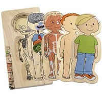Hape - Your Body - Boy 5-Layer Wooden Puzzle