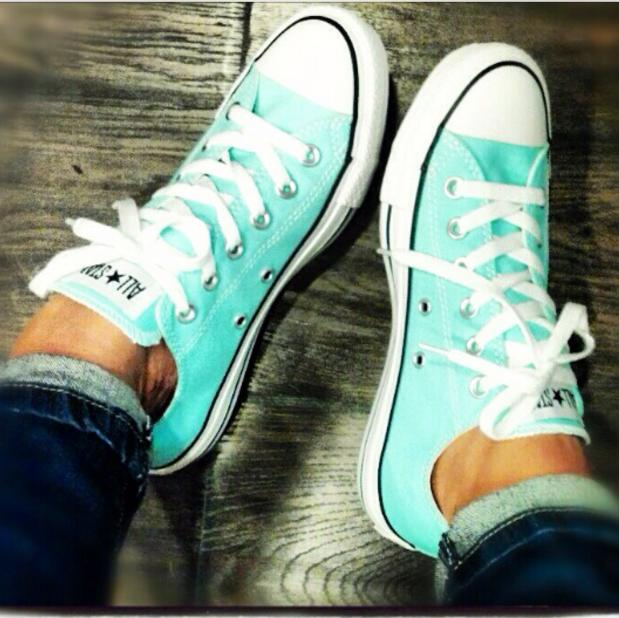 """Image of """"Converse"""" Fashion Canvas Flats Sneakers Sport Shoes Low tops Mint Green"""
