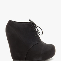 Camilla 78 Laceup Nubuck Covered Wedge Short Boo